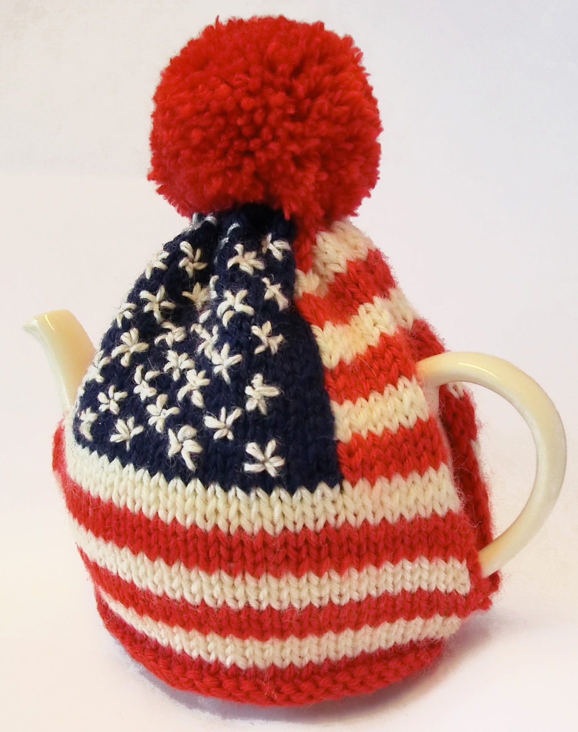 Knitting Pattern for American Flag Tea Pot Cosy