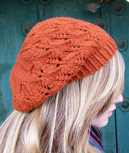 Knitting pattern for Falling Leaves Beret