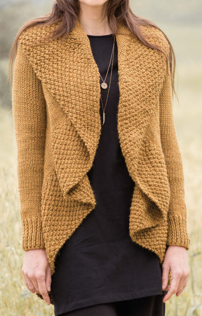 Draped Cardigan Knitting Patterns - In the Loop Knitting