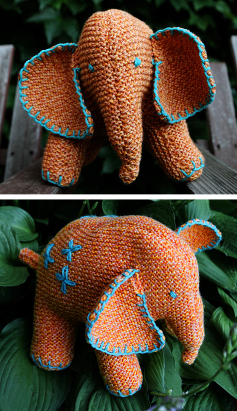 Free Knitting Pattern for Flo the Elephant