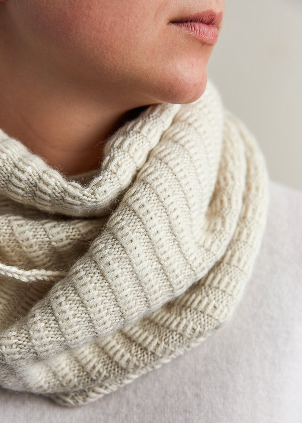 Free Knitting Pattern for 2 Row Repeat Floats Cowl