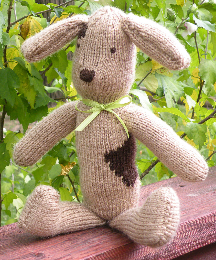 Free Knitting Pattern for Floppy Dog