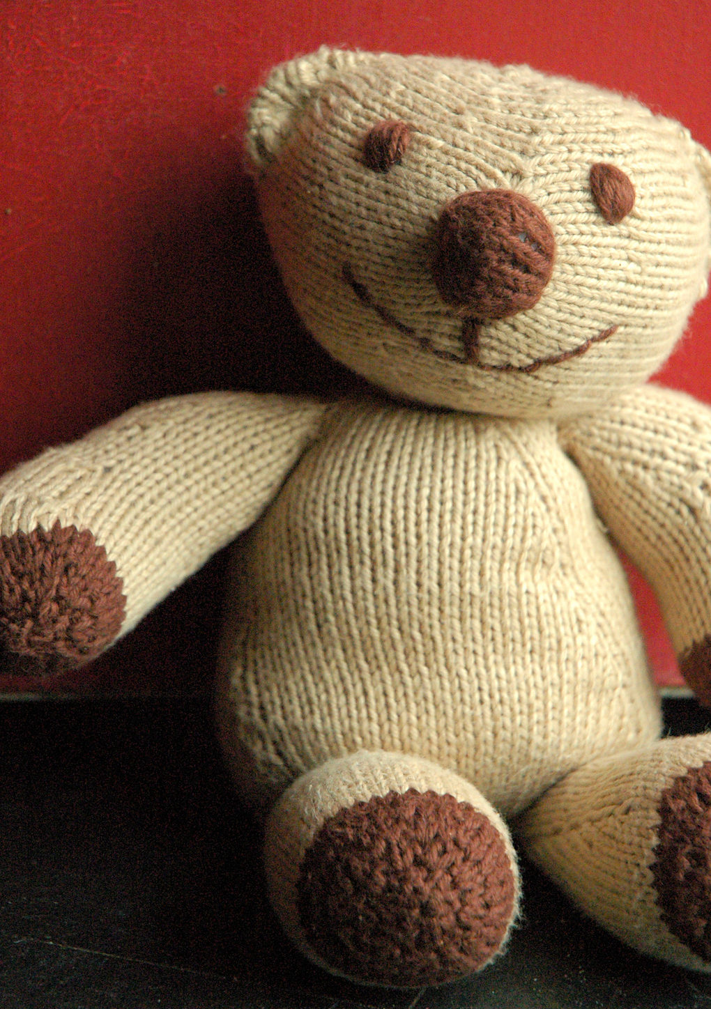 Free Knitting Pattern for Flopsy Bear