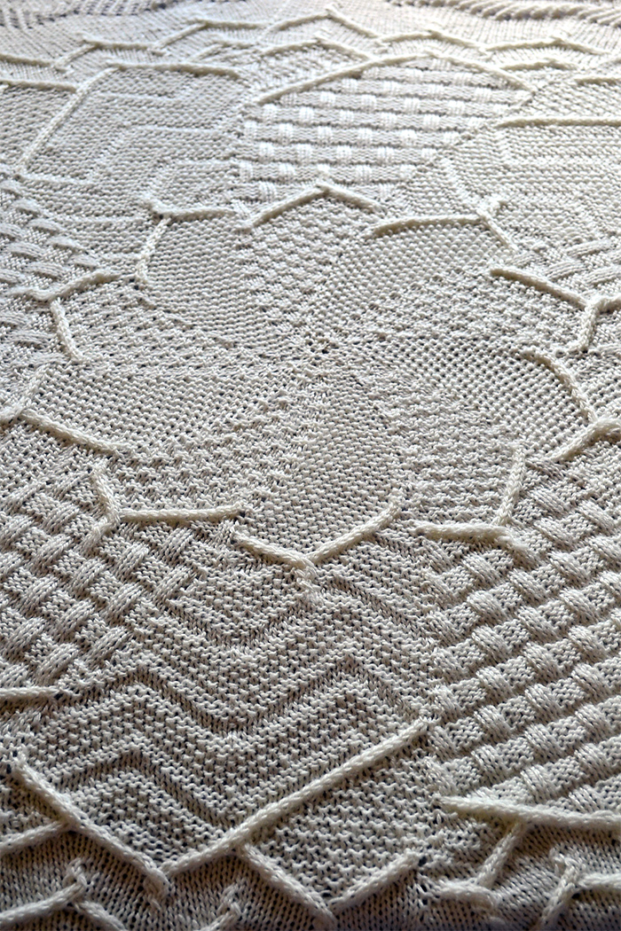 Free Knitting Pattern for Sampler Flower Baby Blanket