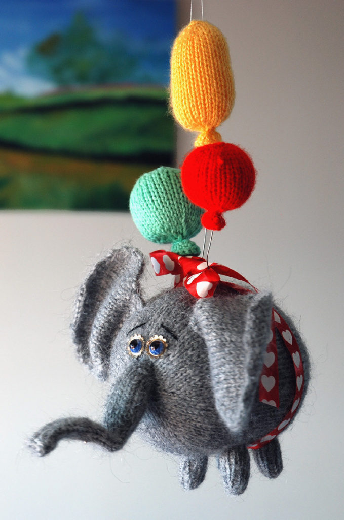 Knitting Pattern for Flying Elephant Toy