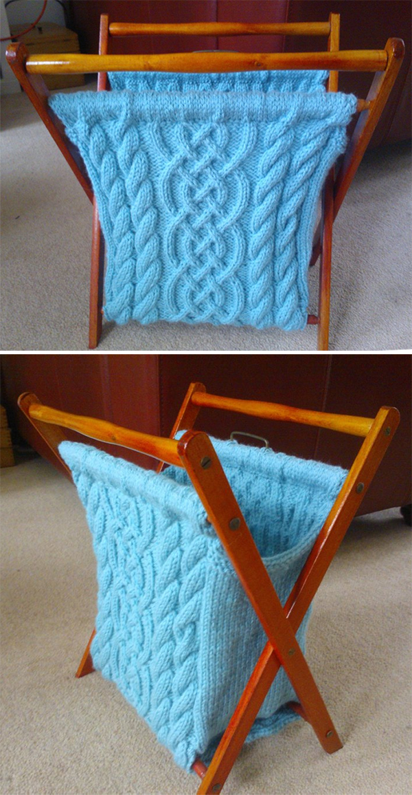 Knitting Pattern for Knitted Folding Craft/knitting Storage Bag/basket
