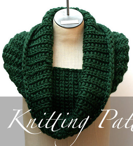 Knitting Pattern for Forest Canopy Cowl