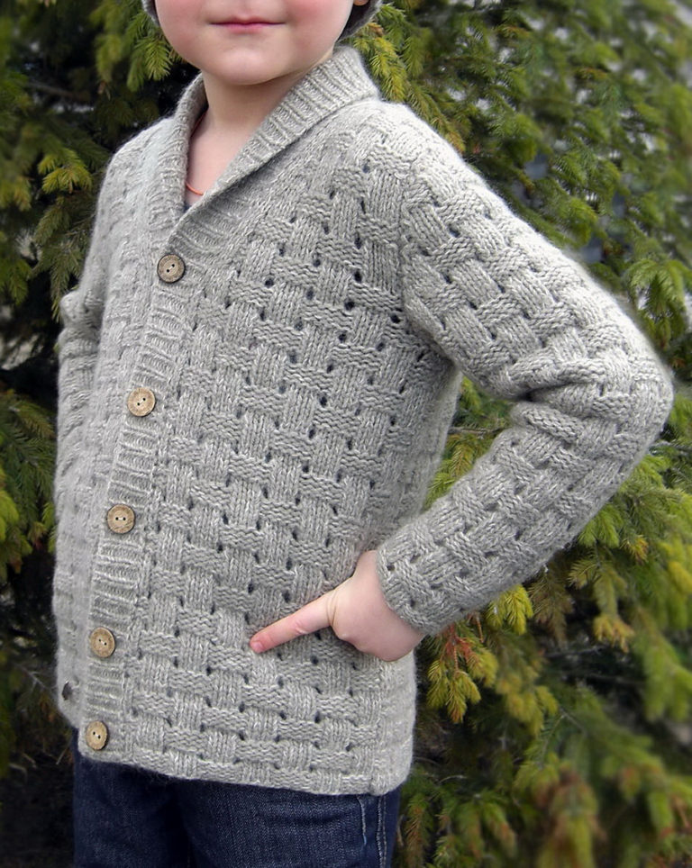 Free Knitting Pattern for Forest Walk Kid Sweater