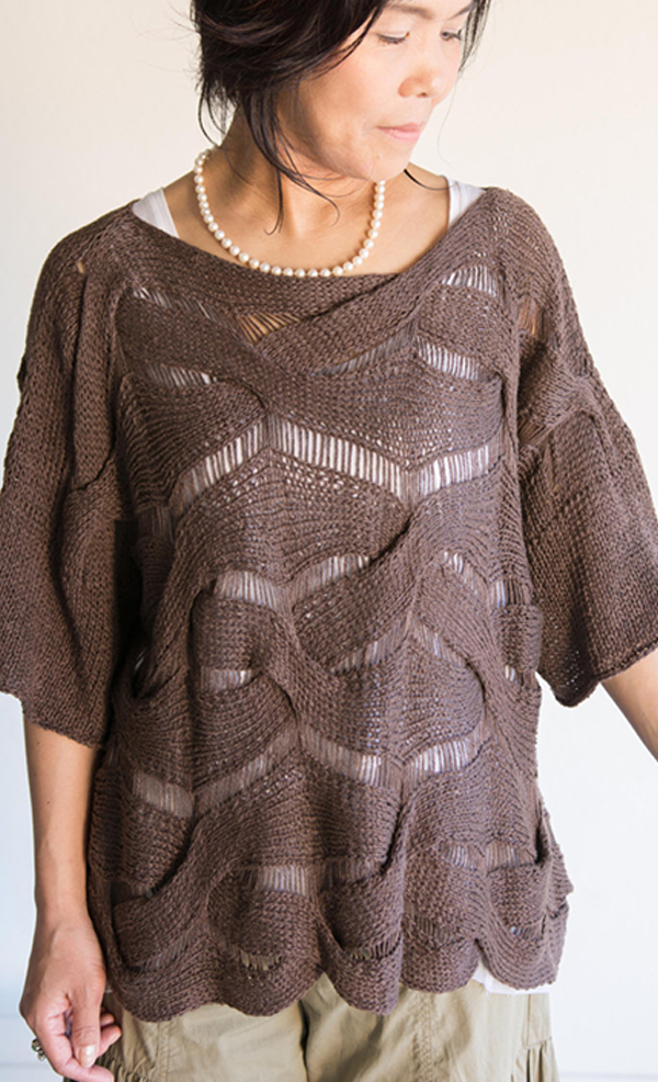 Knitting pattern for Forest Weave Top