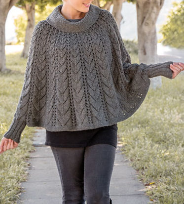 Knitting Pattern for Forevermore Poncho