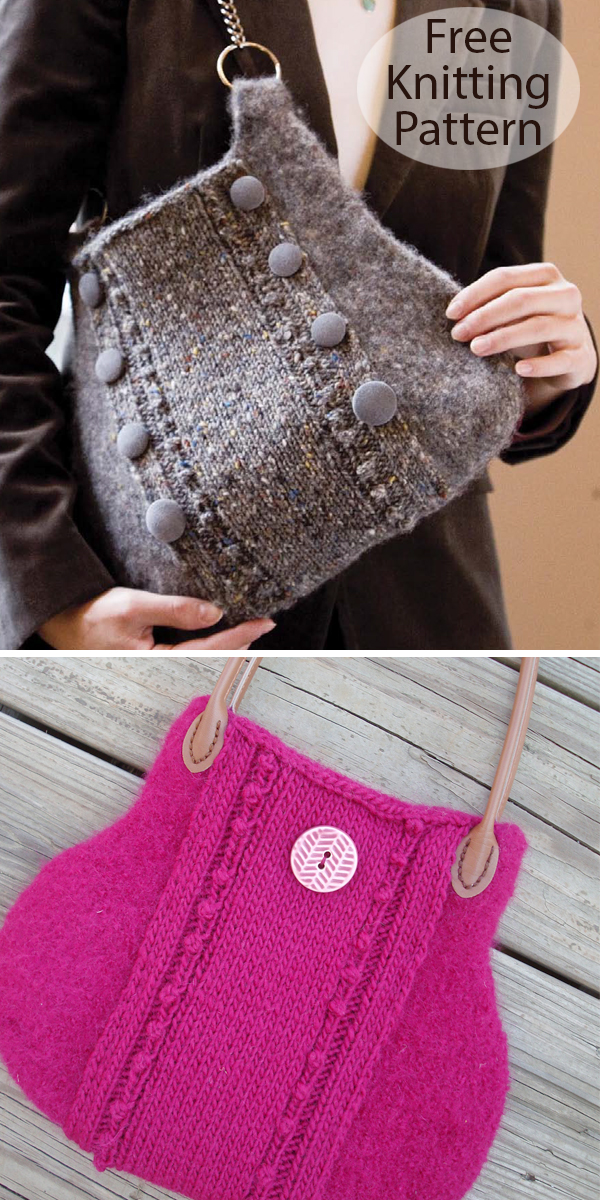 Free Knitting Pattern for Formal Boot Bag