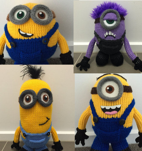 Knitting Patterns for Minions Toys