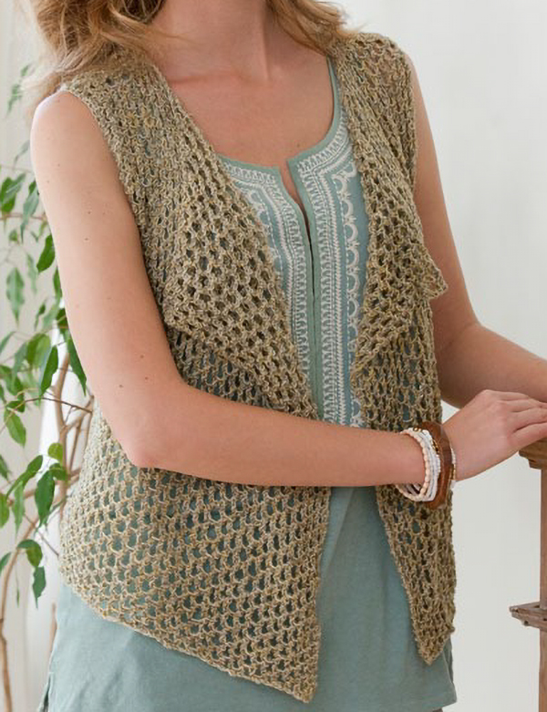 Free Knitting Pattern for Easy Four Seasons Vest