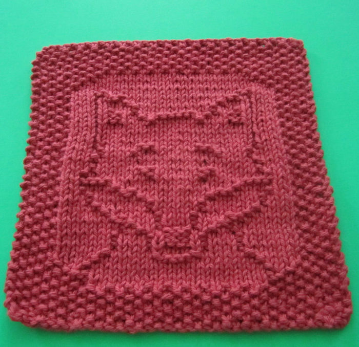 Free Knitting Pattern for Fox Cloth