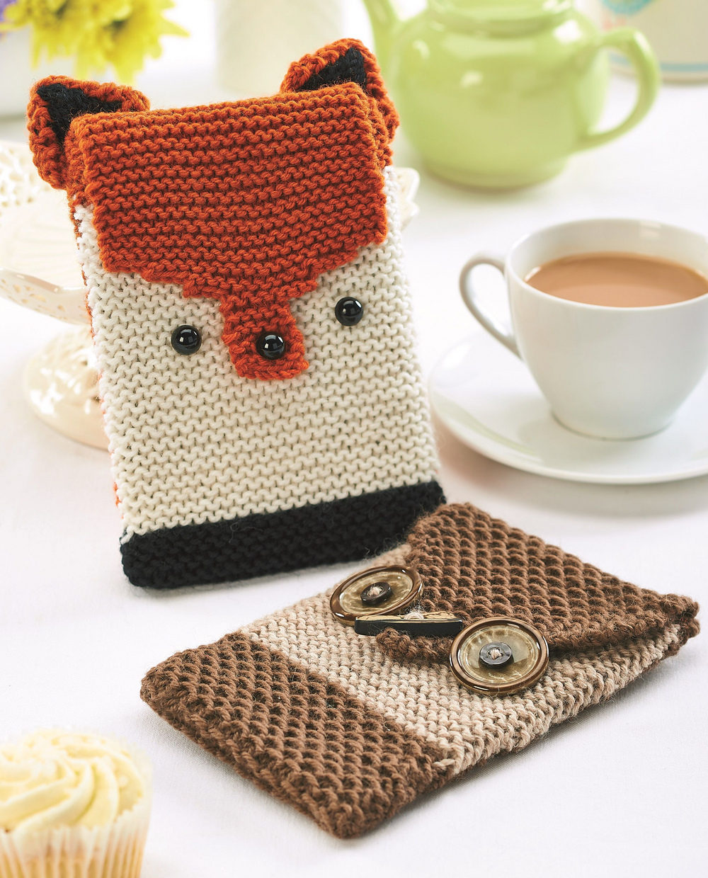 Free Knitting Pattern for Fox and Owl Cozies