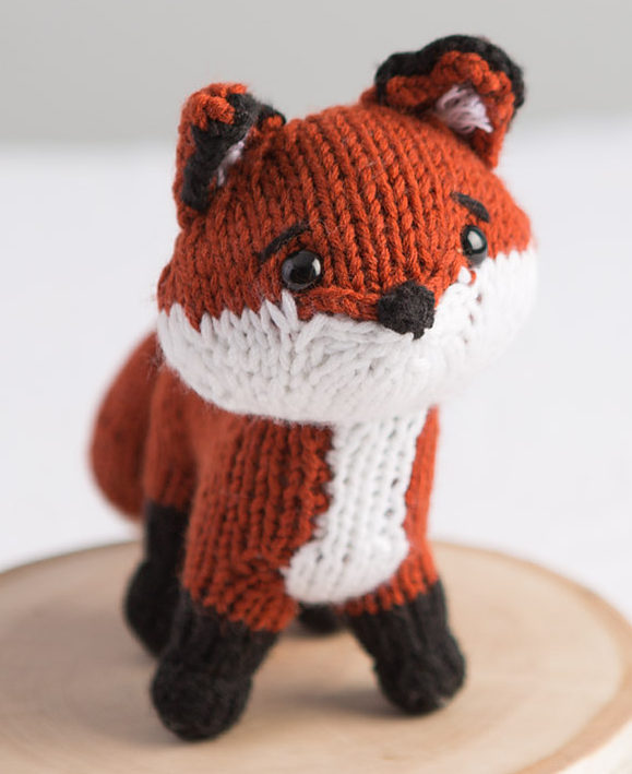 Free Knitting Pattern for Fox Toy