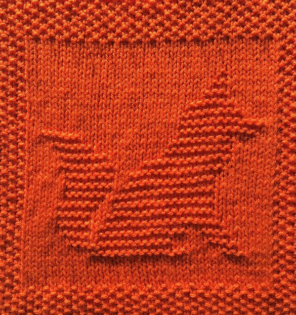 Free Knitting Pattern for Fox Cloth or Afghan Square
