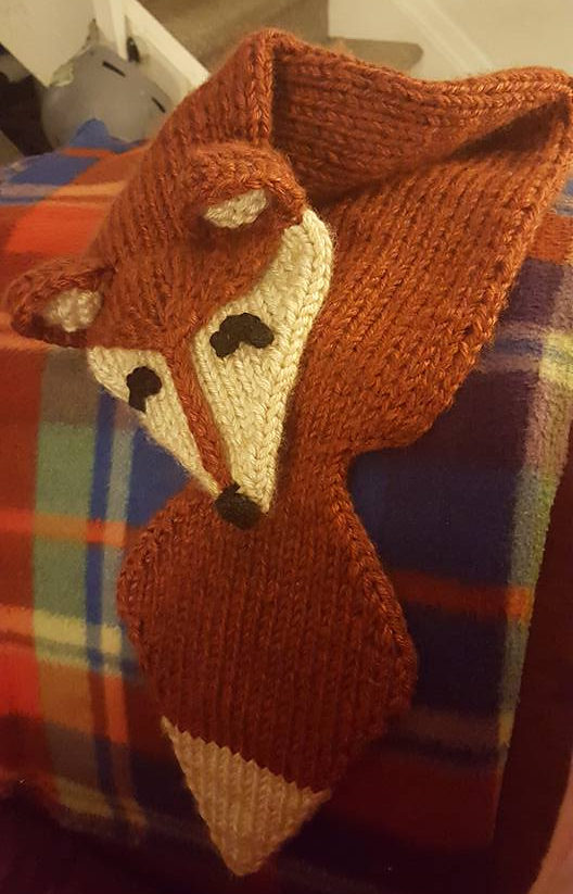 Free Knitting Pattern for Foxy Loxy Scarf
