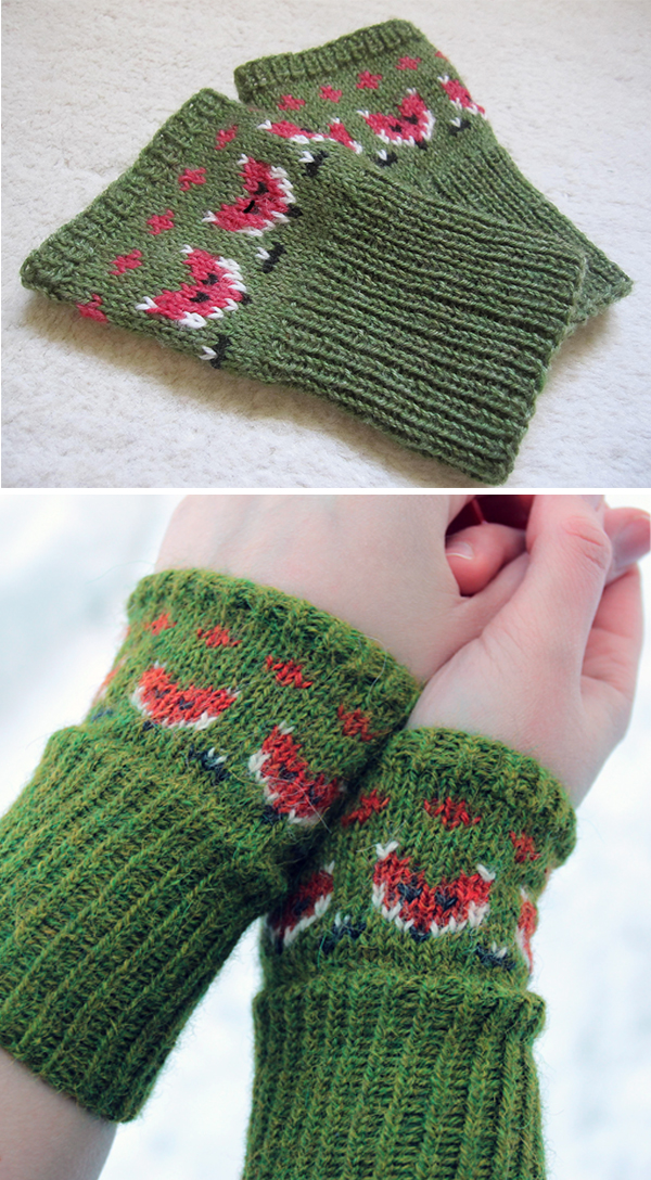 Free Knitting Pattern for Foxy Mittlets