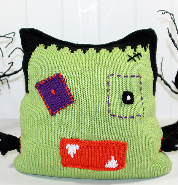 Free Knitting Patterns for Count Frankenstein Pillow