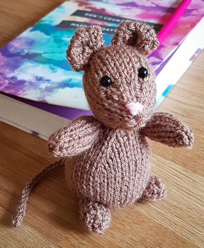 Free Knitting Pattern for Freddie the Field Mouse