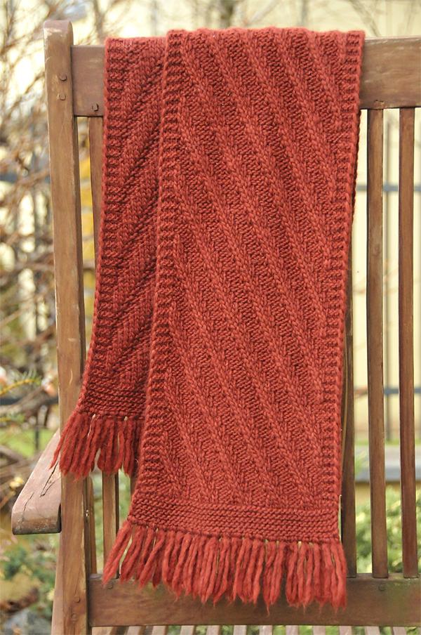 Diagonal Scarf Knitting Patterns- In the Loop Knitting