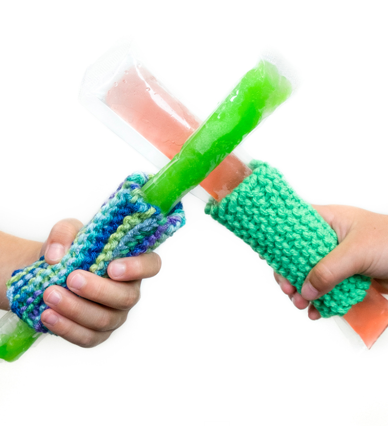 Free Knitting Pattern for Freezer Pop Cozy