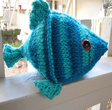 Free Knitting Pattern for Friday the Fish Toy