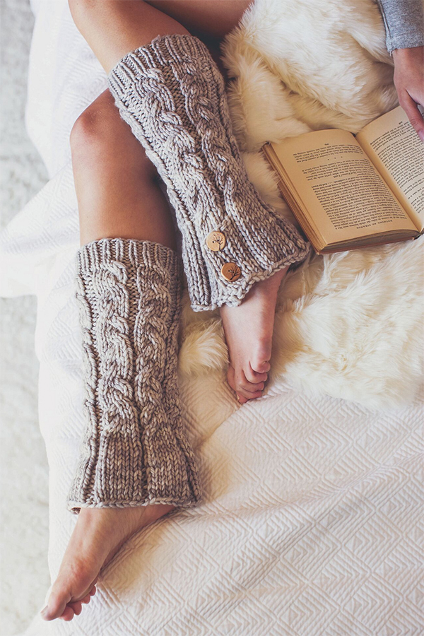 Free Knitting Pattern for Fridley Leg Warmers