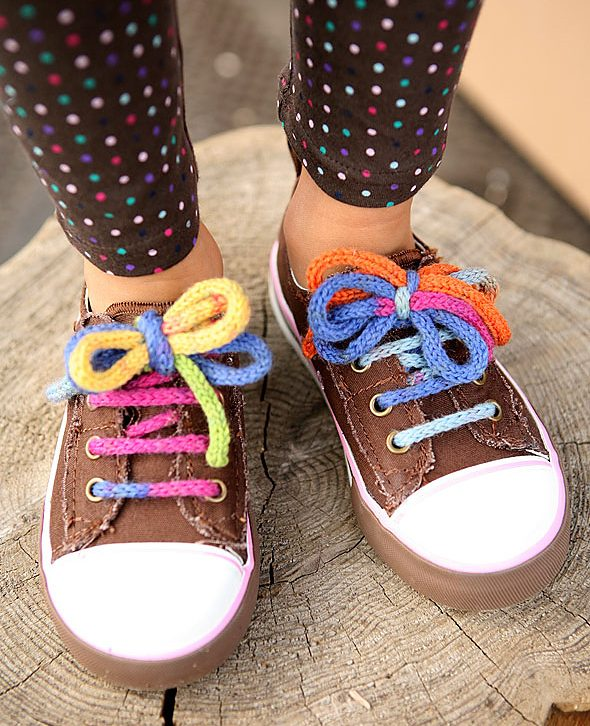 Free Knitting Pattern for I-Cord Shoelaces