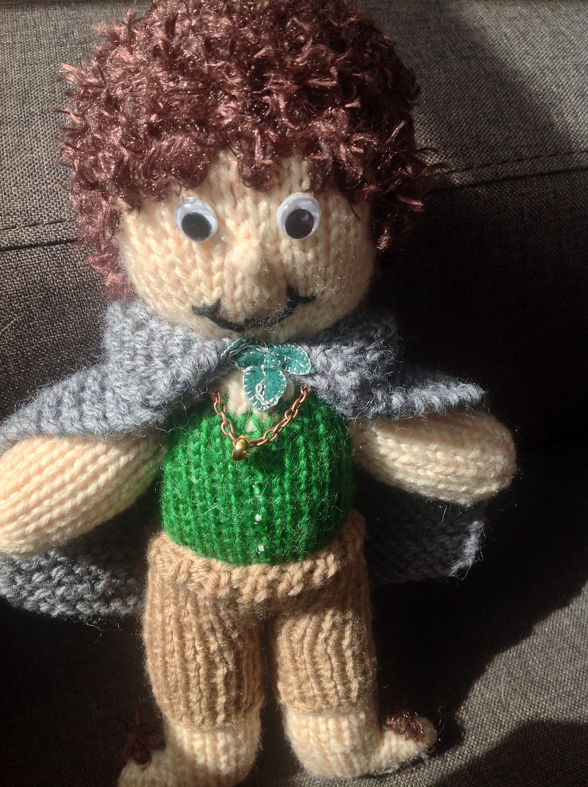 Free Knitting Pattern for Frodo Baggins