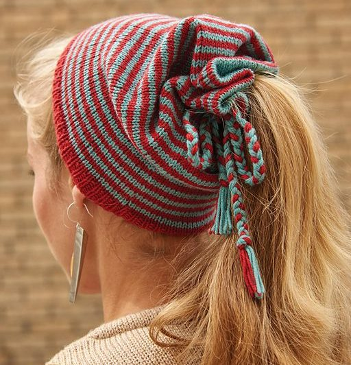Knitting Pattern for Frolic Paperbag Hat