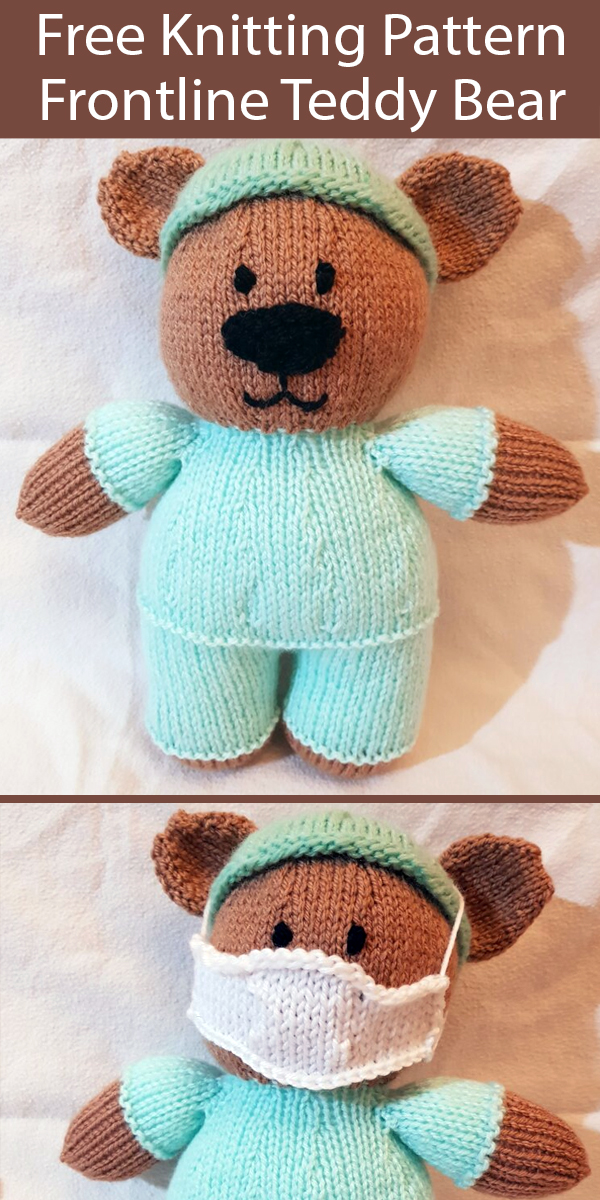 Free Knitting Pattern for Frontline Teddy Bear