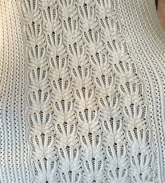 Free Knitting Pattern for Frost Flower Lace Afghan