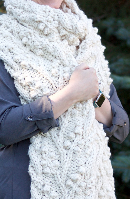 Knitting Pattern for Frostberry Super Scarf