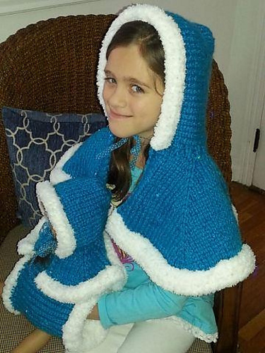Frozen Princess Cape Knitting Pattern by Melissa Kemmerer | Frozen Inspired Knitting Patterns at https://intheloopknitting.com/frozen-knitting-patterns