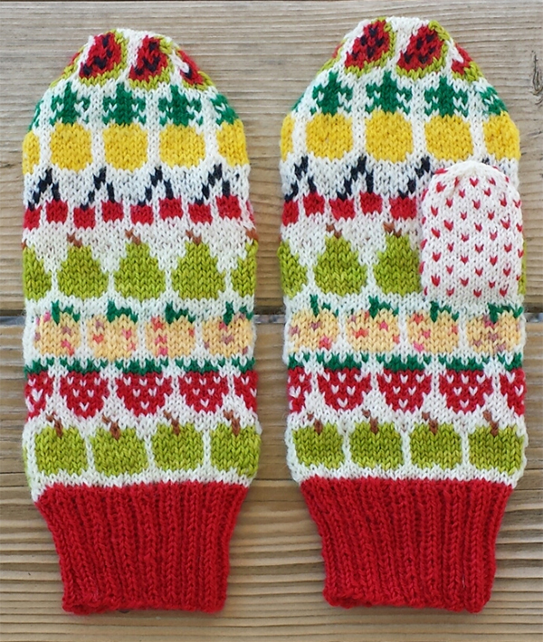 Free Knitting Pattern for Fruit Mittens