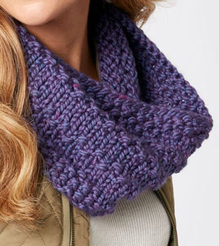 Free Knitting Pattern for Quick Easy Full Circle Cowl