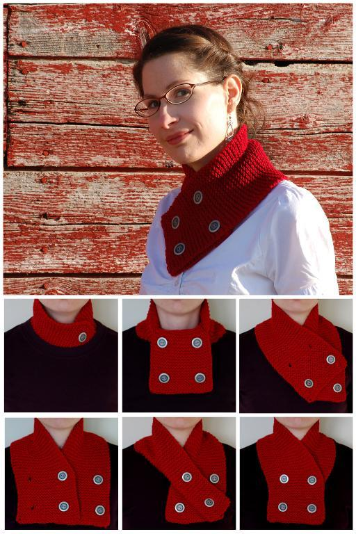 Free knitting pattern for Beginnings Neckwarmer Scarf and more neckwarmer knitting patterns