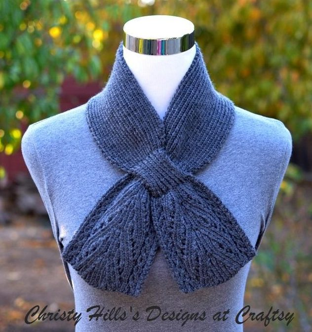 Knitting pattern for Everest Scarf