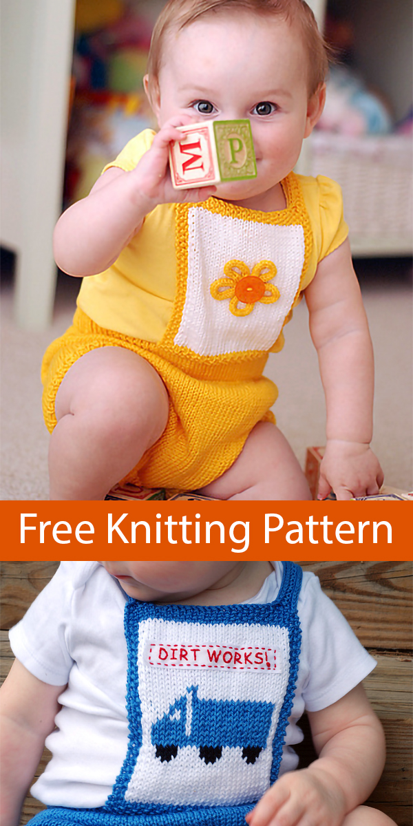 Free Knitting Pattern for Fun-in-the-Sun Baby Romper