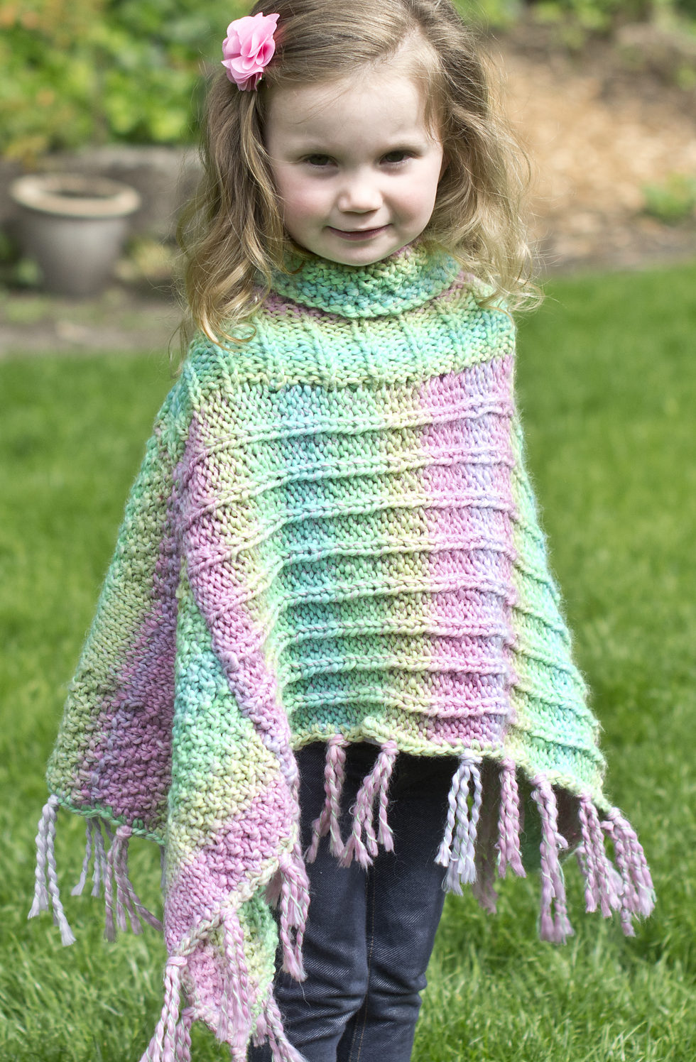 Free Knitting Pattern for Fun Times Poncho