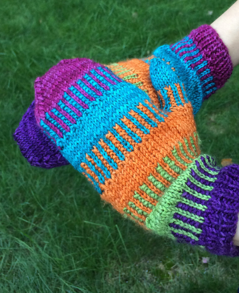 Free Knitting Pattern for Funktastic Mittens