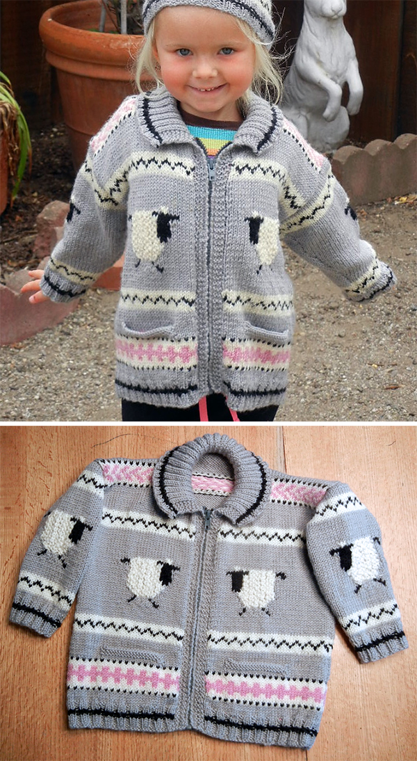 Free Knitting Pattern for Gabriel Baby and Toddler Cardigan