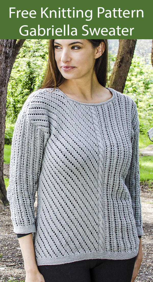 Free Sweater Knitting Pattern Gabriella Sweater