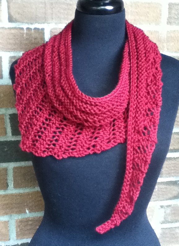 Gallatin Scarf free knitting pattern and more lacy scarf knitting patterns