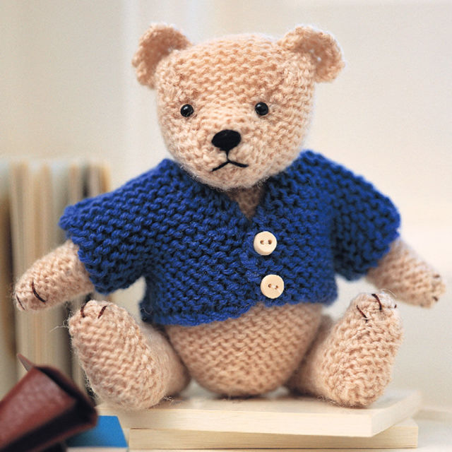 Free Knitting Pattern for Oliver Teddy Bear With Jacket