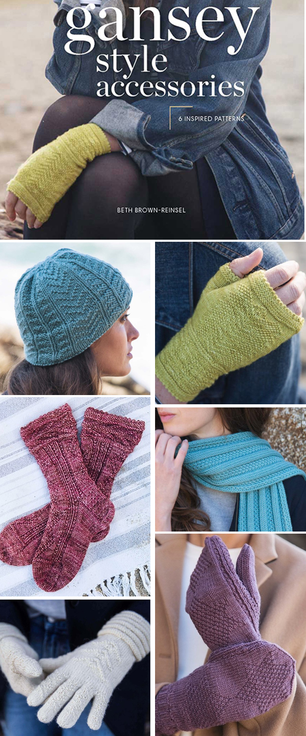 Gansey Style Accessories eBook: 6 Inspired Knitting Patterns