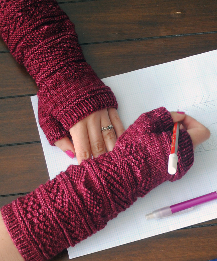 Free Knitting Pattern for Gansey Wristers