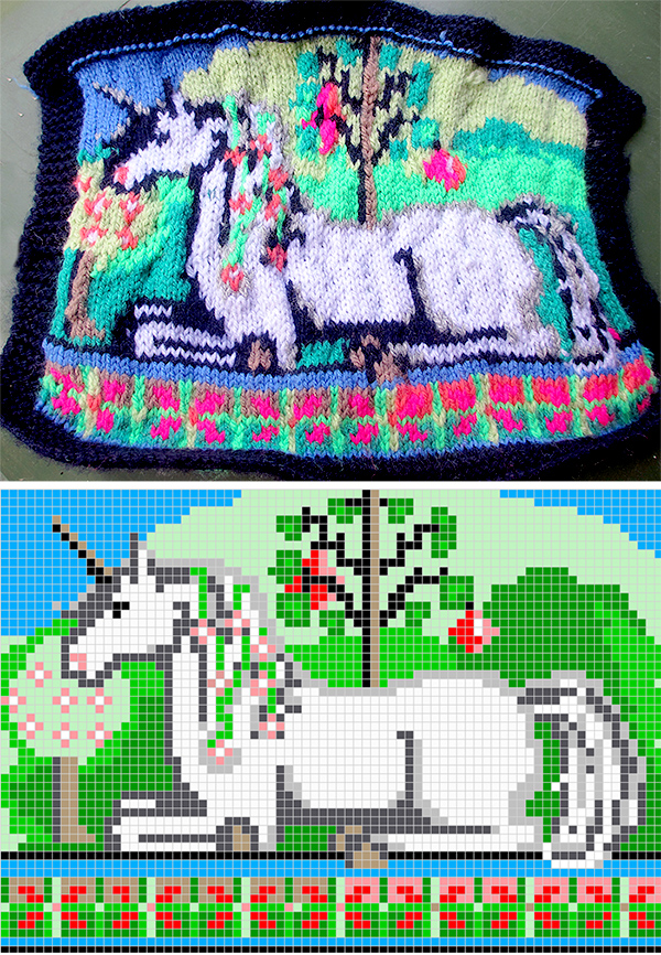 Free Knitting Pattern for Garden of the Unicorn